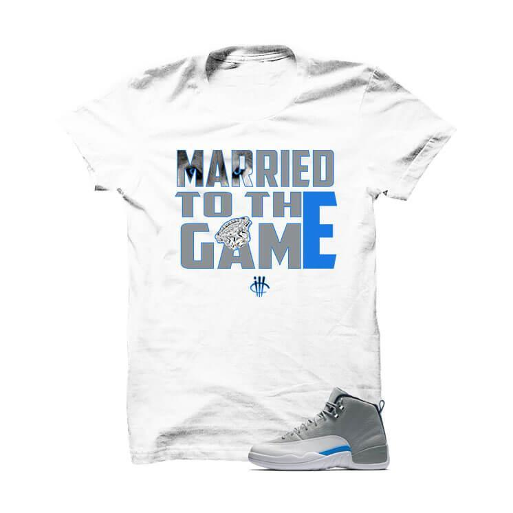 Jordan 12 Wolf Grey White T Shirt (Married To The Game)