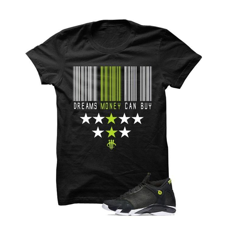 Jordan 14 Indiglo Black T Shirt (Dreams Money Can Buy)
