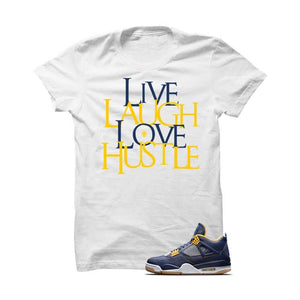 Jordan 4 Dunk From Above White T Shirt (Love Hustle)