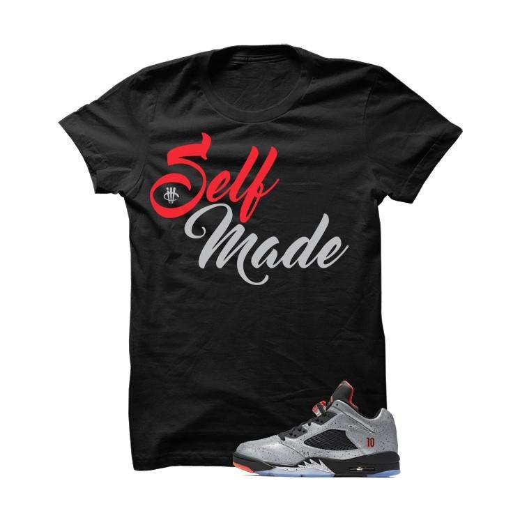 Jordan 5 Low Neymar Black T Shirt (Self Made)