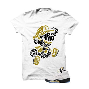 Jordan 5 Olympic White T Shirt (Mario Bros)