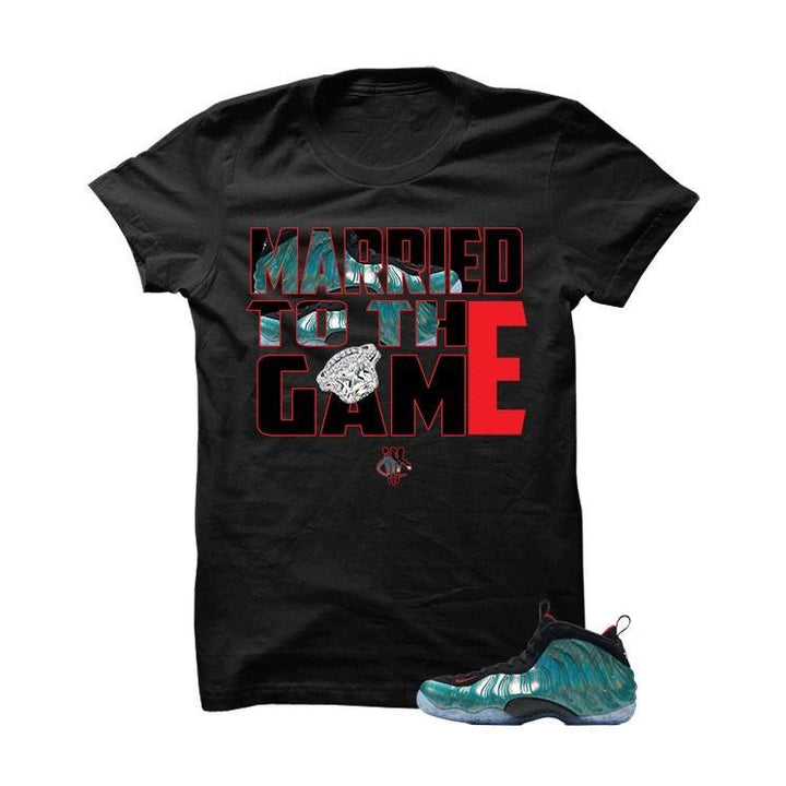 Married To The Game Gone Fishing Foams Black T Shirt