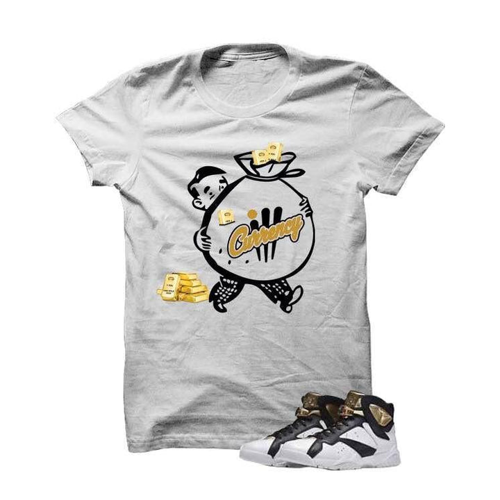 Money Bags Champagne7s White T Shirt