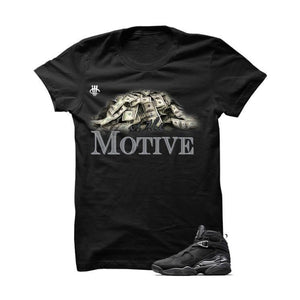 Money Is The Motive Chrome 8s Black T Shirt