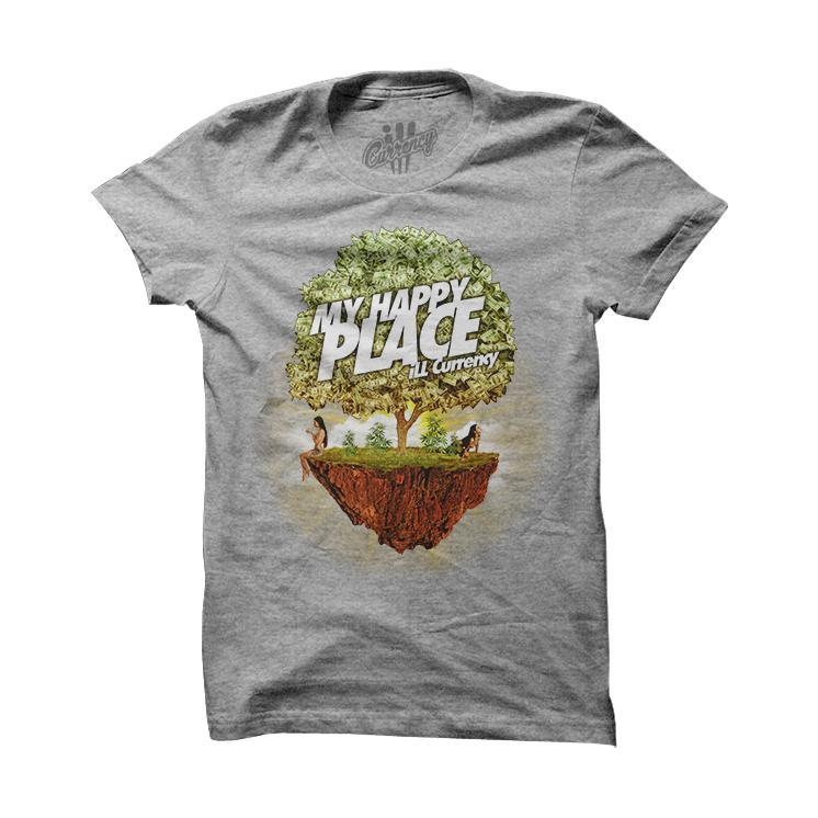 My Happy Place Grey T Shirt