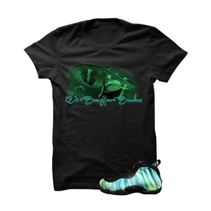 Northern Lights Foams Black T Shirt (We See You Snakes)