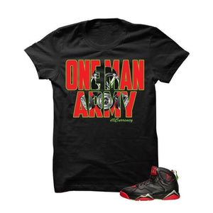 One Man Army Marvin The Martian 2 Black T Shirt