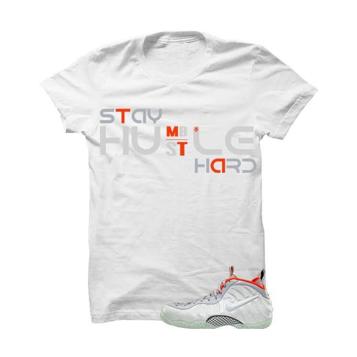 Pure Platinum Pro Foams White T Shirt (Hustle Hard)