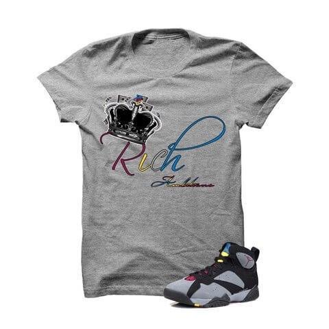 Rich Ambitions Bordeaux 7s Grey T Shirt