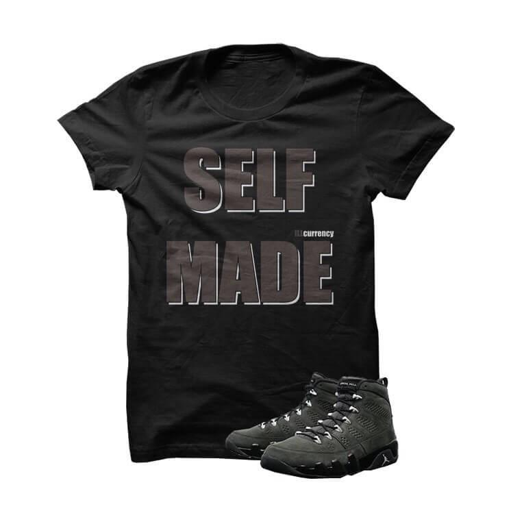 Self Made Jordan 9 Anthracite Black T Shirt