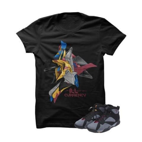 Twisted Bordeaux 7s Black T Shirt