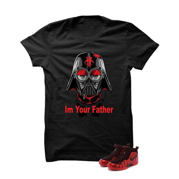 University Red Foams  Black T Shirt (Star Wars Minion)