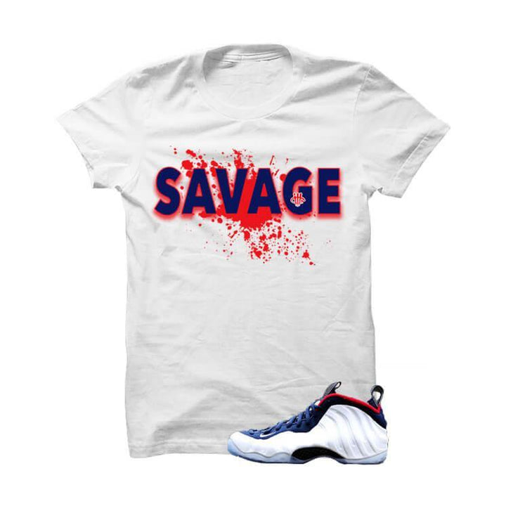 USA Foamposite One White T Shirt (Savage Splat)