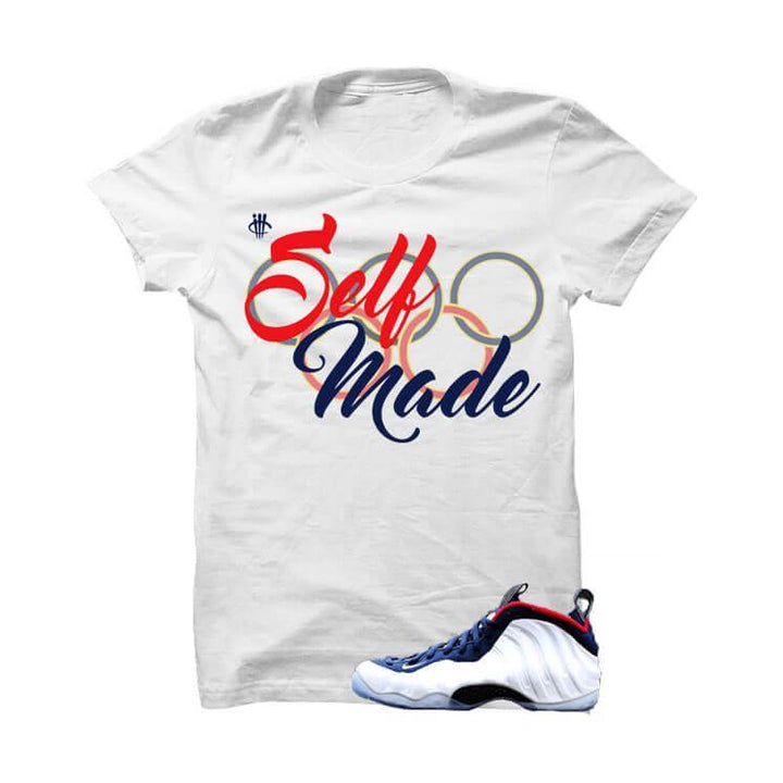 USA Foamposite One White T Shirt (Self Made)