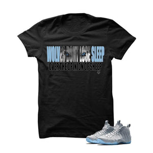 Wolves Don't Sleep Wolf Grey Foams Black T Shirt
