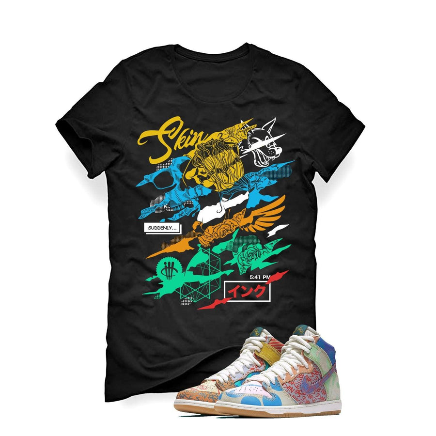 "Nike SB Dunk High Premium ""What the"" Black T (Skin And Ink)"