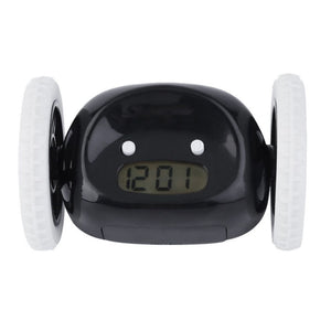 Running On Wheels Digital LCD Alarm - Chase your Alarm Clock!