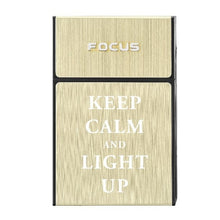 Load image into Gallery viewer, Fxxk OFF Cigarette Box with Removable USB Electric Lighter