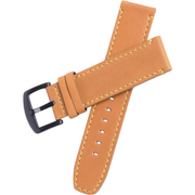 Xeric 22mm Tan Leather Strap with Black Buckle