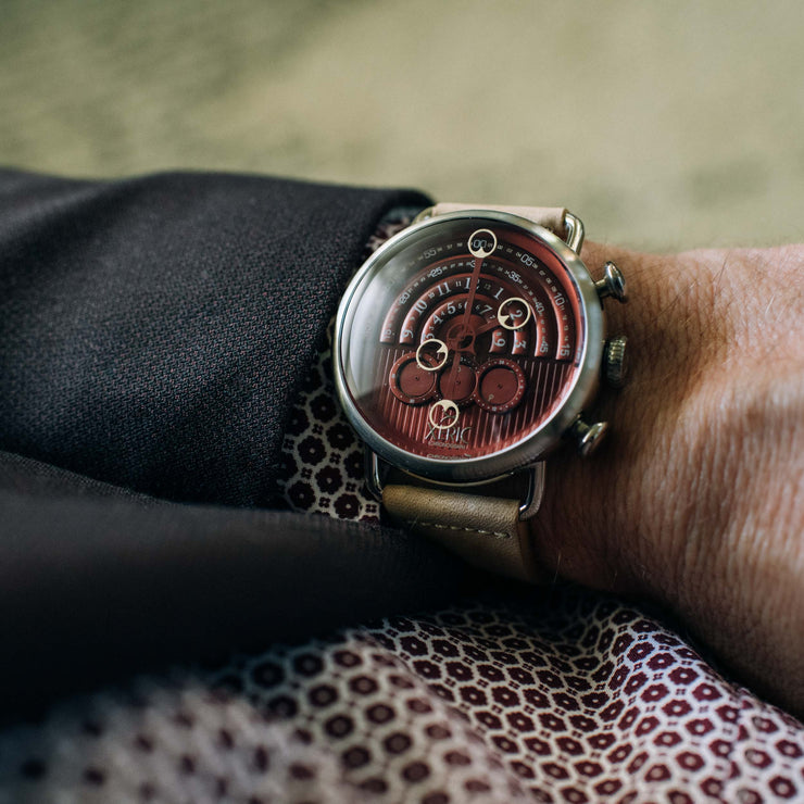 Halograph Chrono Sapphire Silver Oxblood