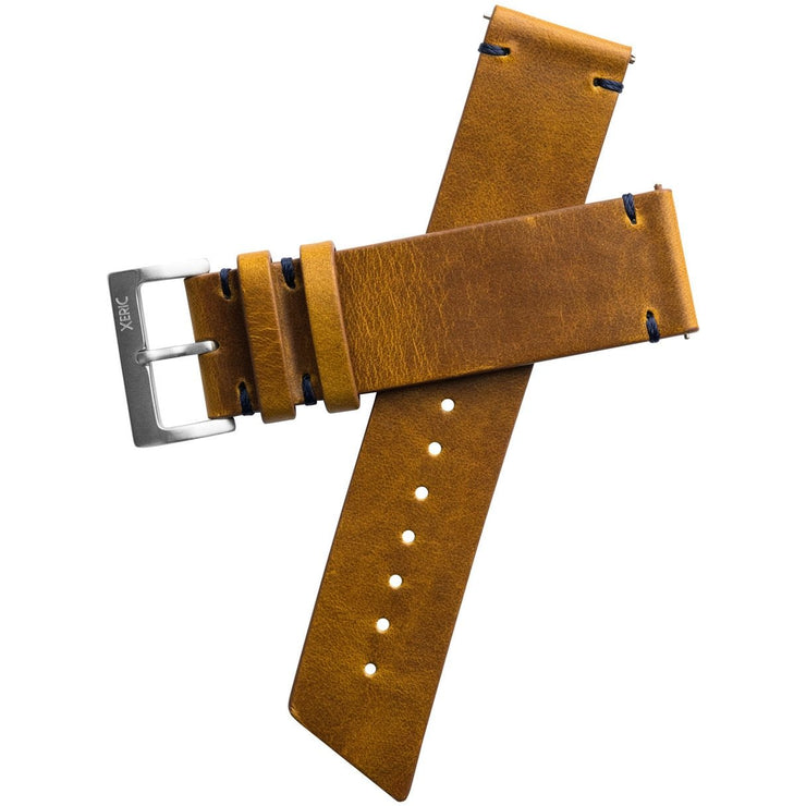 Xeric 22mm Horween Buccaneer Leather Tan Strap Silver Buckle