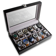 Xeric Twelve Watch Wood Collectors Display Case