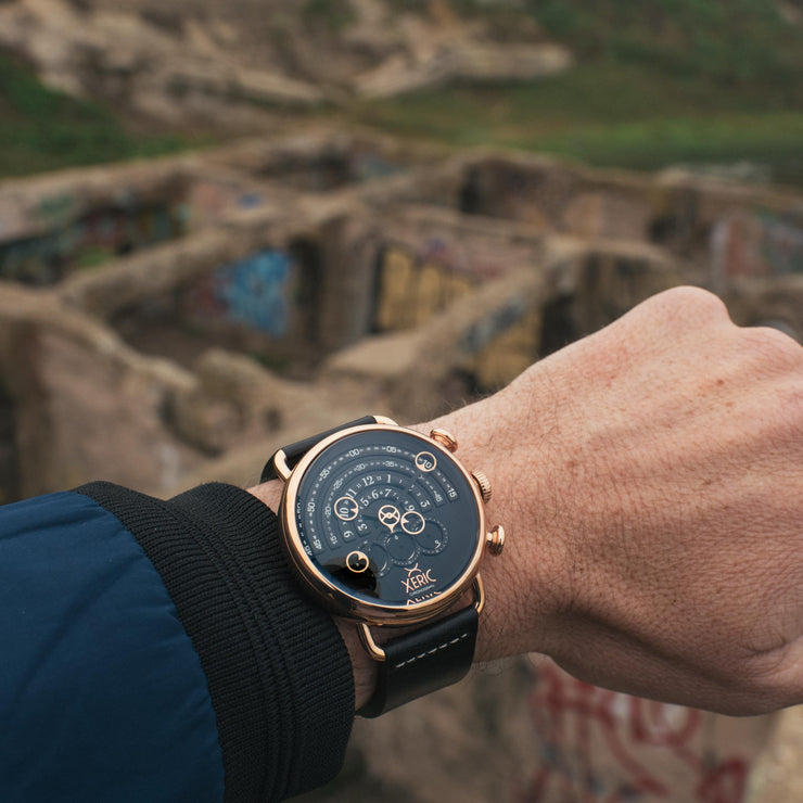 Halograph Chrono Sapphire Rose Gold Black