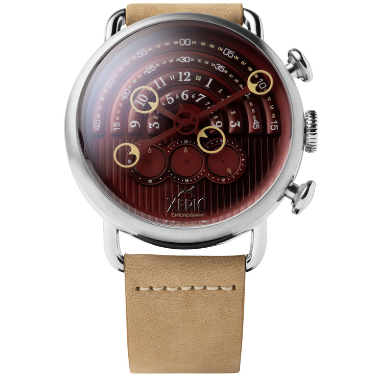 Xeric Halograph Chrono Sapphire Silver Oxblood