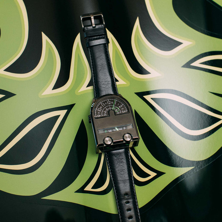 Leadfoot Automatic Gunmetal Lime Limited Edition