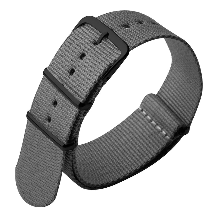 Xeric 22mm Military Strap Grey with Gunmetal Hardware