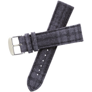 Xeric Savile Row 24mm Alpaca Charcoal Tartan