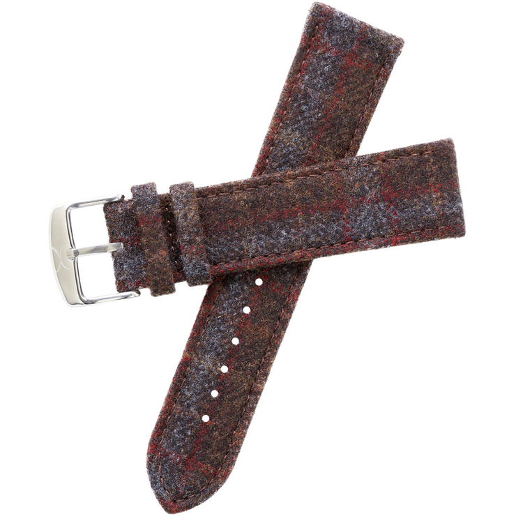 Xeric Savile Row 20mm Chestnut Red Tartan