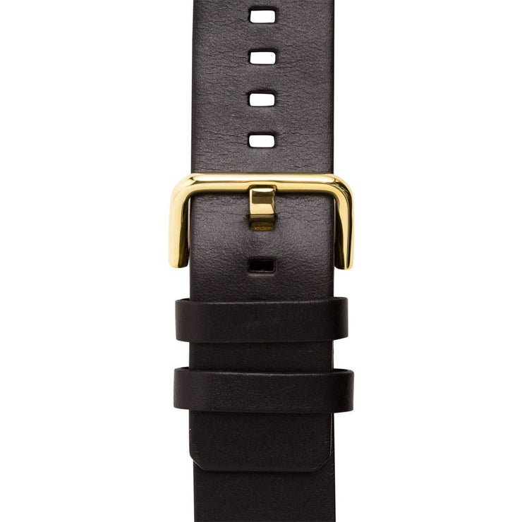 Xeric 24mm American Horween Black/Gold Leather Strap