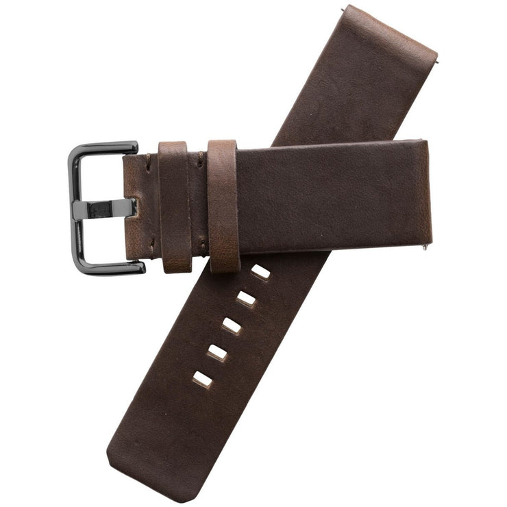 Xeric 24mm American Horween Dark Brown/Gun Leather Strap