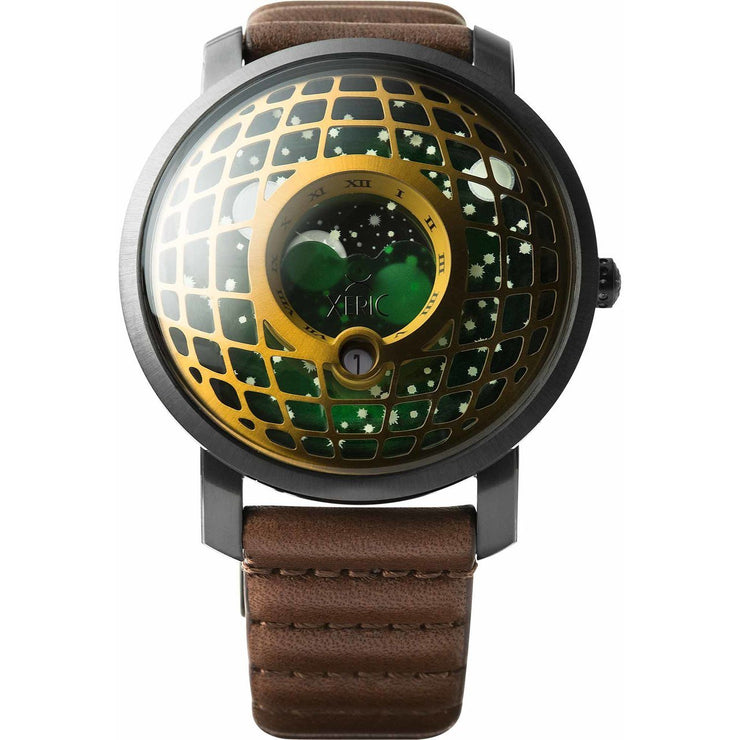 Trappist-1 Moonphase Brass Green