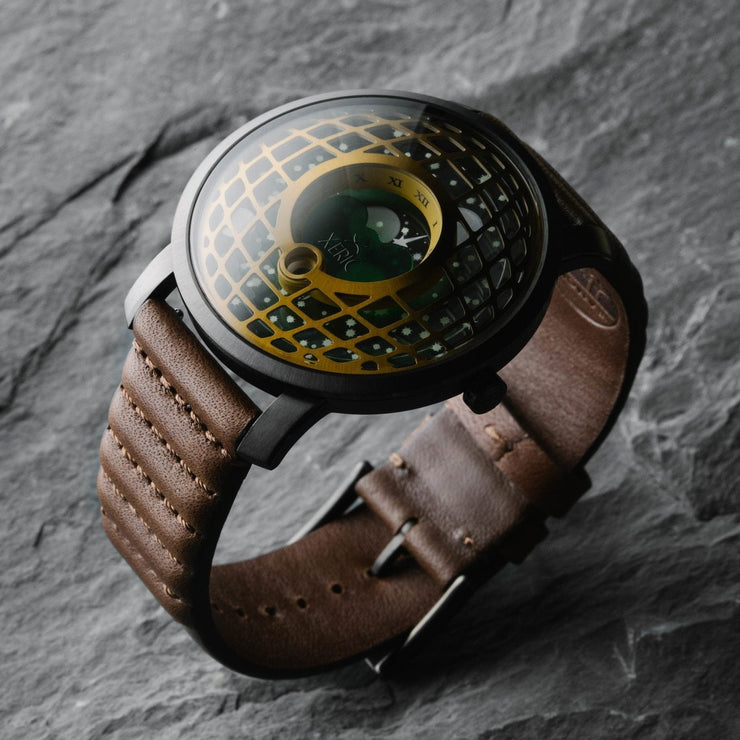 Xeric Trappist-1 Moonphase Brass Green