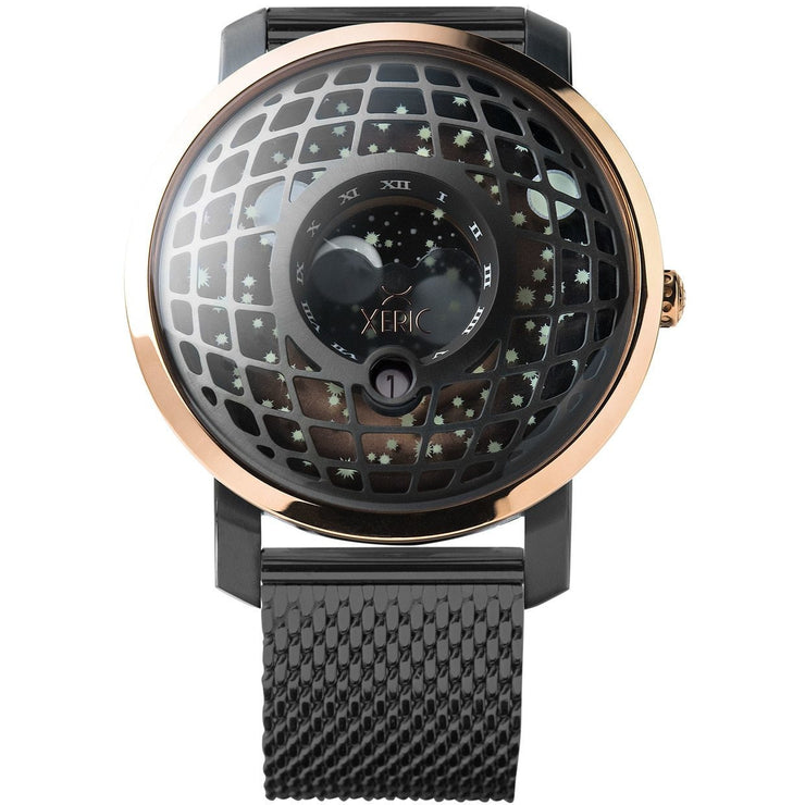 Trappist-1 Moonphase Rose Gold Mesh