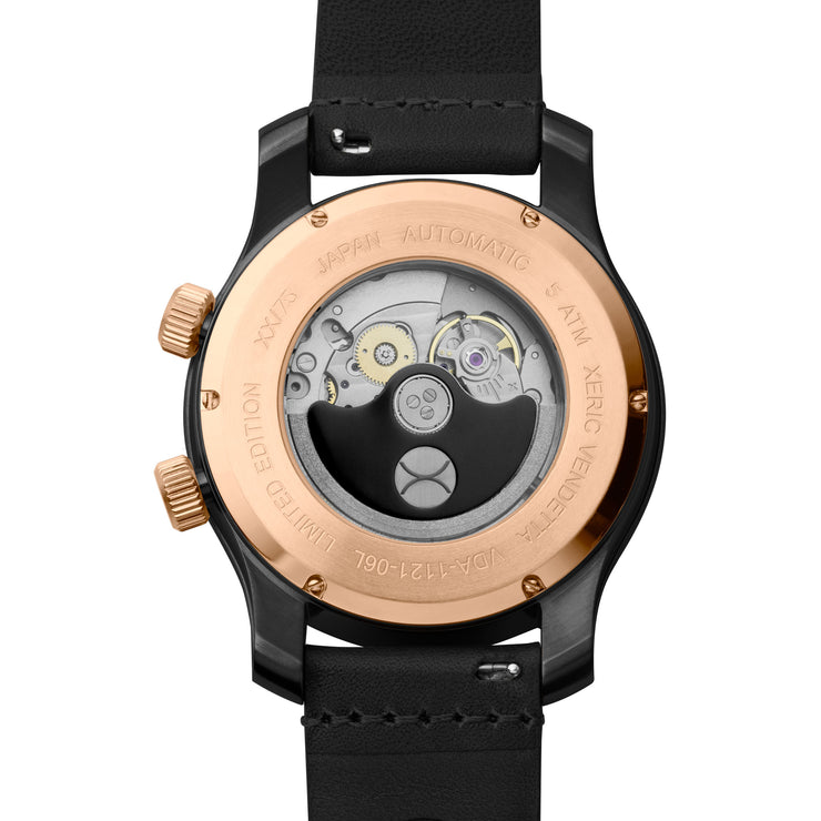 Vendetta Automatic Wandering Hour Rose Gold Black