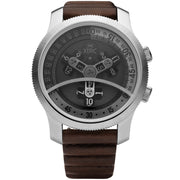 Vendetta Automatic Wandering Hour Silver Brown