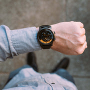 Vendetta Automatic Wandering Hour Gunmetal Orange xeric wrist