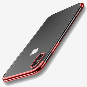Thin tranparant case red Iphone