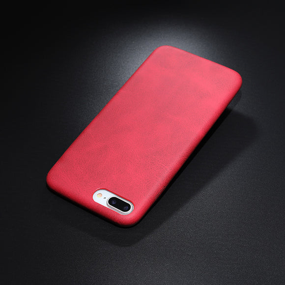 leather texture case red Iphone