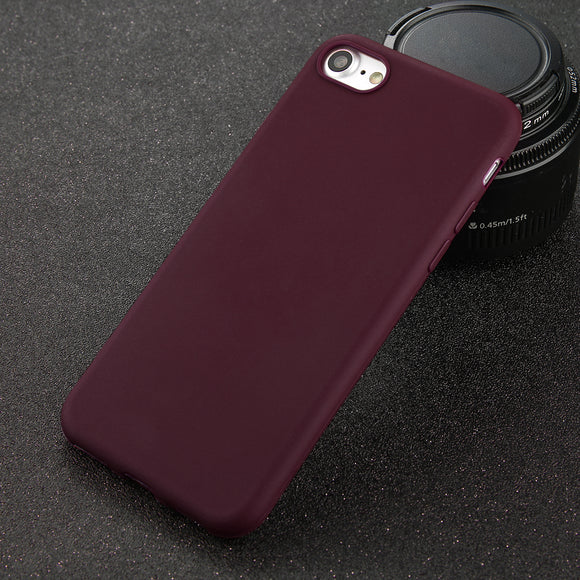 Smooth case wine red Iphone