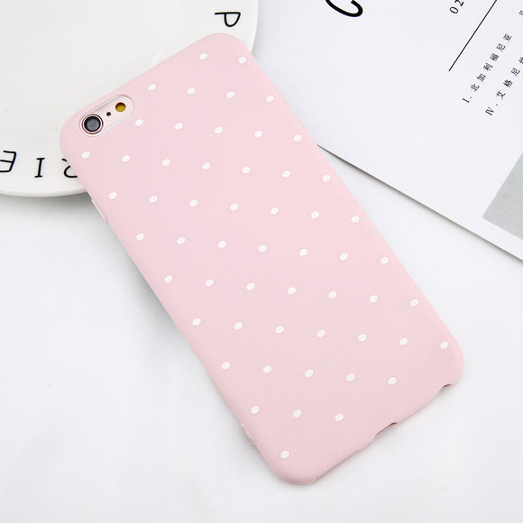 Case pink with dots Iphone