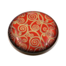 Buttons - Red embossed with Gold pattern
