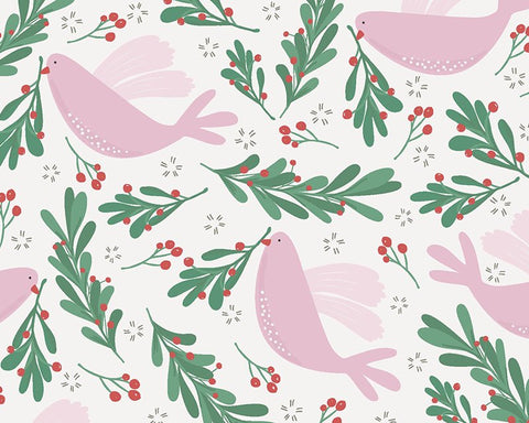 Other Fabric's - Peaceful Dove Christmas Fabric
