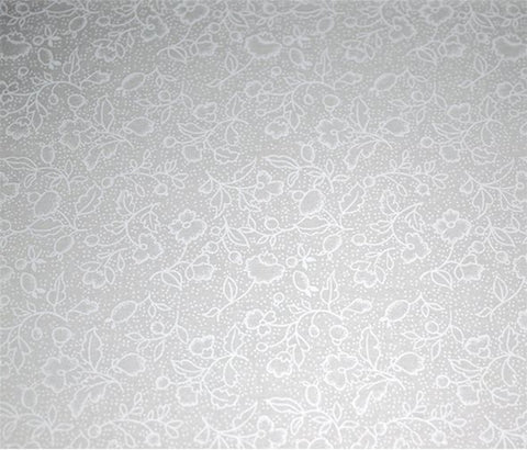Fabric Solids and Mixers - White on White Flower