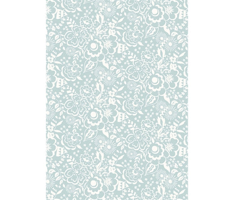 Liberty Fabric -Deco Dance Collection - Lindy Silhouette Blue/Green
