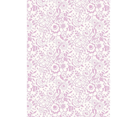 Liberty Fabric -Deco Dance Collection - Lindy Silhouette Pink