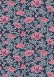 Liberty Fabric - Winterbourne Collection Beatrice Poppy Pink